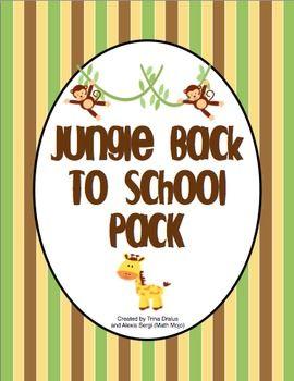 Jungle Theme Classroom Mega Pack $