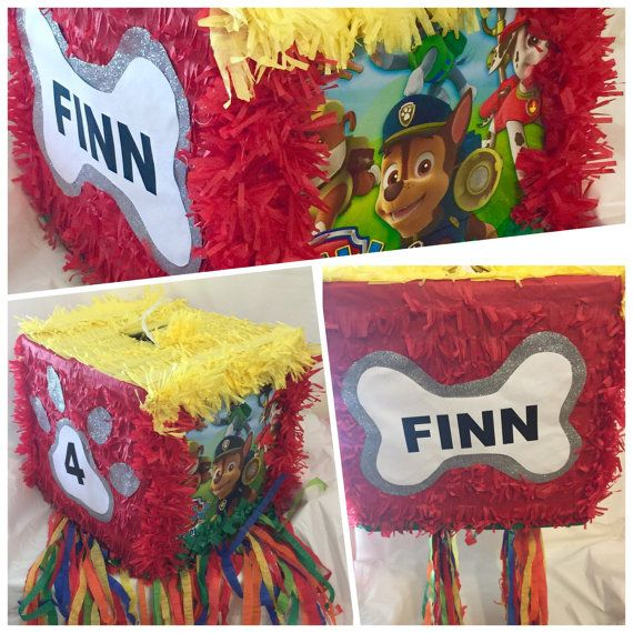 Paw Patrol Pinata Sale Customize Name & Age by Thebestpinataever