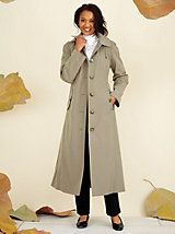"""Have been looking for this specific coat for awhile and finally found it and at a very good value."" - Panama1252 about the London Fog® Long Raincoat with Button-Off Hood from Old Pueblo Traders"