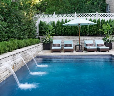 I thought I would round up a few of my favourite pools that we have featured in House & Home over the years.  I love when there is a swimming pool in the most unexpected spot, or when they blend r
