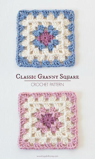Classic Granny Square - Free Crochet Pattern                                                                                                                                                                                 More
