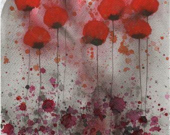 Pittura ad acquerello: Fiore acquerello dipinto  Art Print