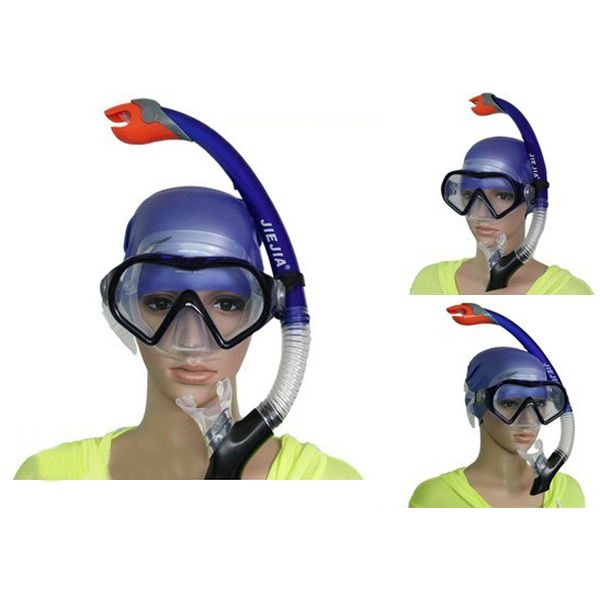 Sale 20% (29.99$) - Full Dry Breathing Tube Diving Goggles Toughened Glass Mask Suit