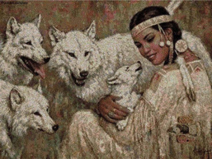India con lobos