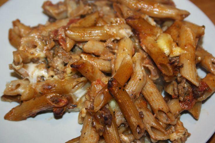 Ruokasurffausta: Juustoinen jauheliha-pastavuoka