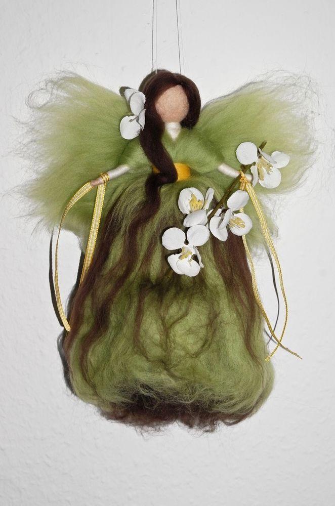 BAUMBLÜTEN - FEE  ELFE  ENGEL  Jahreszeitentisch Märchenwolle Frühling Blüte