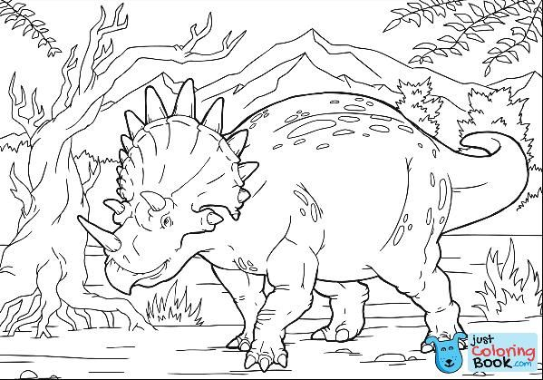 Printable Triceratops Coloring Pages Dinosaur Coloring Pages