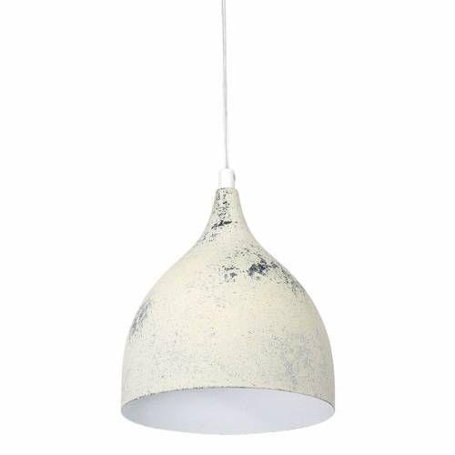 Lampa suspendata alb antichizat D17