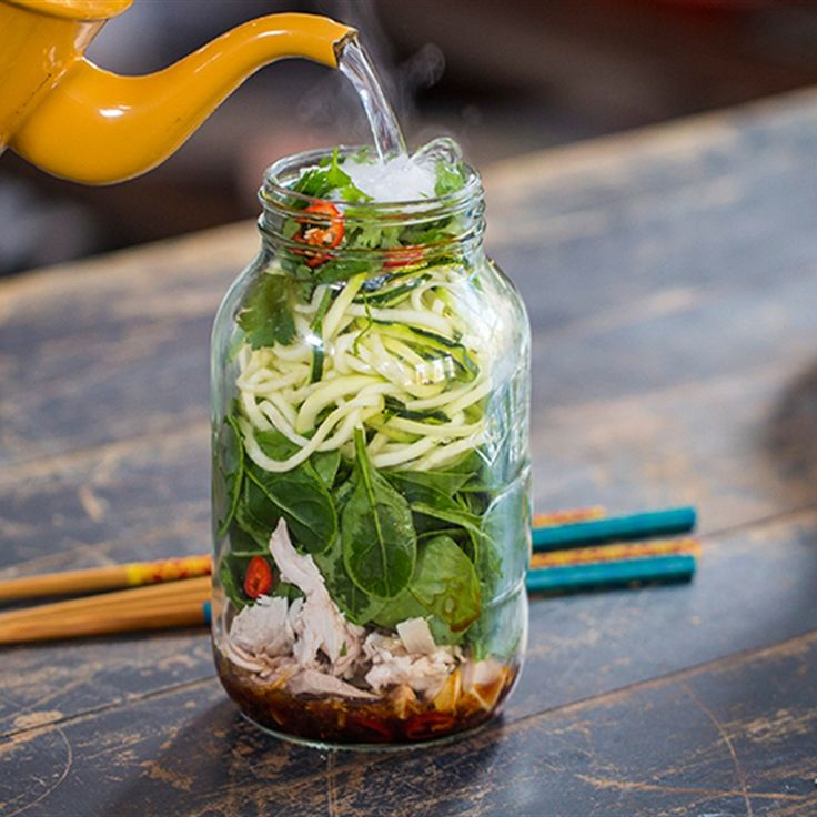 Try this Chicken and Sesame Noodle Pot recipe by Chef Jasmine and Melissa Hemsley . This recipe is from the show Hemsley Hemsley - Healthy