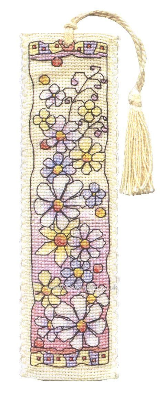 Buy Flower Meadow Bookmark Cross Stitch Kit Online at www.sewandso.co.uk