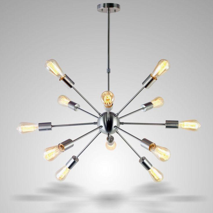 Mid Century Sputnik Chandelier Scandinavian Pendant Light Stilnovo Style 12