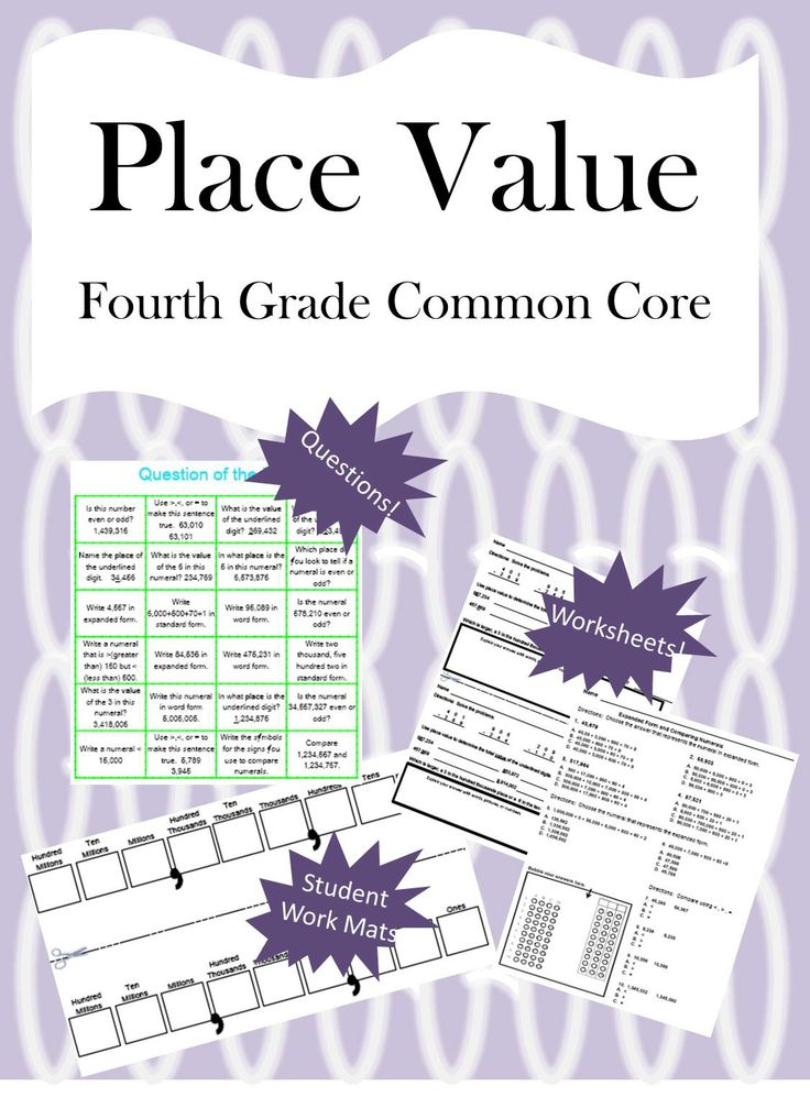fourth grade place value math unit common core activities place value activities and places. Black Bedroom Furniture Sets. Home Design Ideas