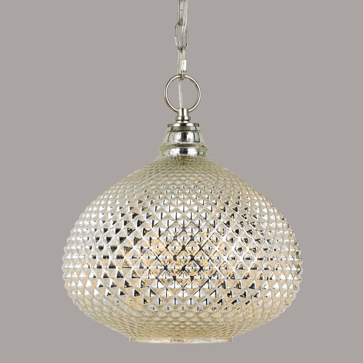 Featuring A Diamond Patterned Texture In Antique Mirror Glass Our Curvy Pendant Light Is