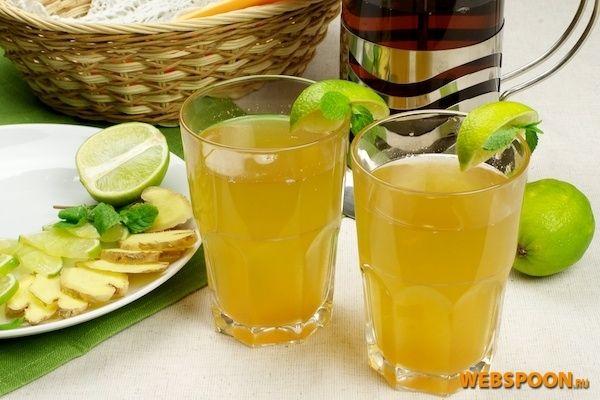 Имбирный чай   Рецепт имбирного напитка с фото + пошагово