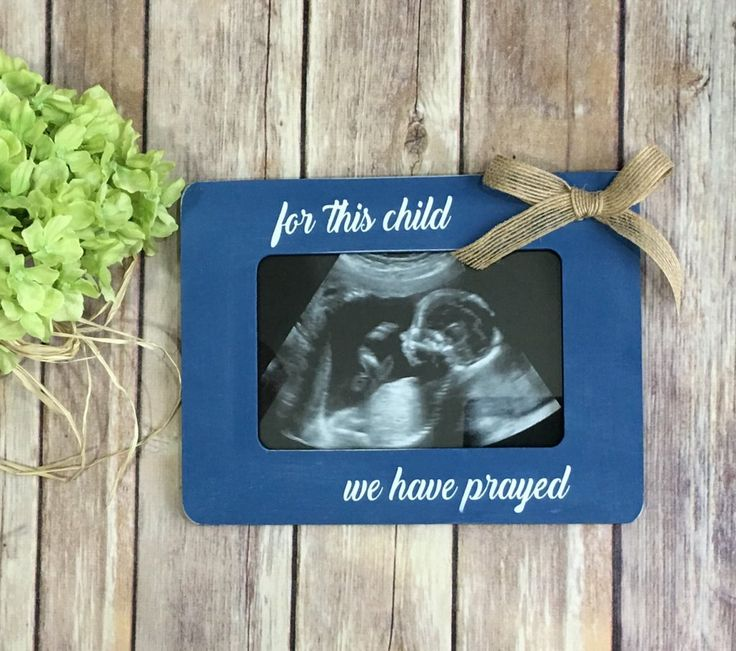 Pregnancy Announcement Frame For This Child We Have Prayed Ultrasound Frame
