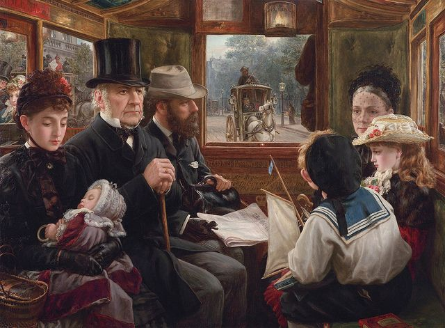 Alfred Morgan - An Omnibus Ride to Piccadilly (Mr Gladstone Travelling with Ordinary Passengers) [1885] | Flickr - Photo Sharing!