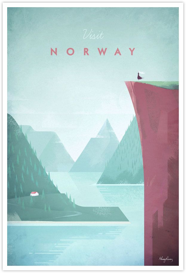 #henry_rivers #affiche #poster #travel #british_illustrator #illustrator #vintage_travel #vintage #travel_advertising #cool_colours #playful_details #minimalist_style #minimalism_style #europe #north america #australia #south_america #norway #côte_d_azur #japan #noipic