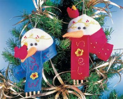 Mu eco de nieve para decorar el arbol de navidad - Arbol navidad nieve ...