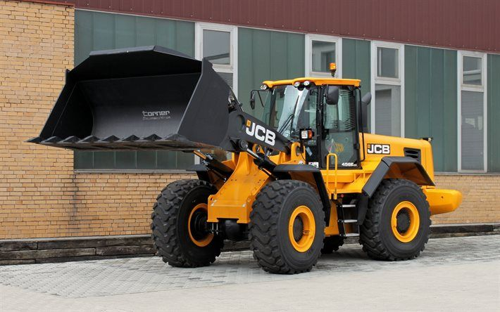 Descargar fondos de pantalla JCB 456 ZX, maquinaria especial, cargadora de ruedas, JCB