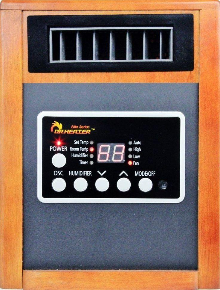 Dr Infrared Heater 1500W Infrared Heater with Oscillation, Built-in Speak, AM/FM Radio