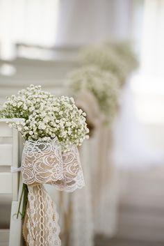 Rustic and romantic wedding ceremony decor at Walt Disney World