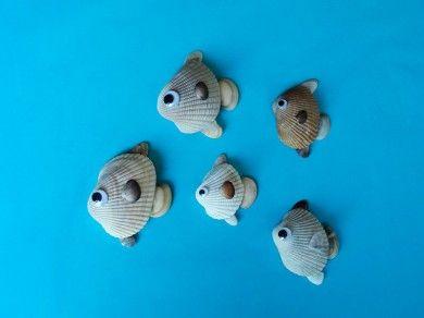 peces hechos con conchas  #peces #manualidades #conchas