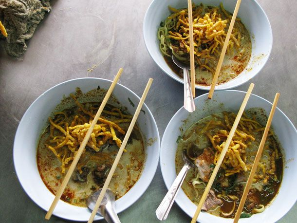 Khao Soi - Curry Noodle Soup from  Northern Thailand
