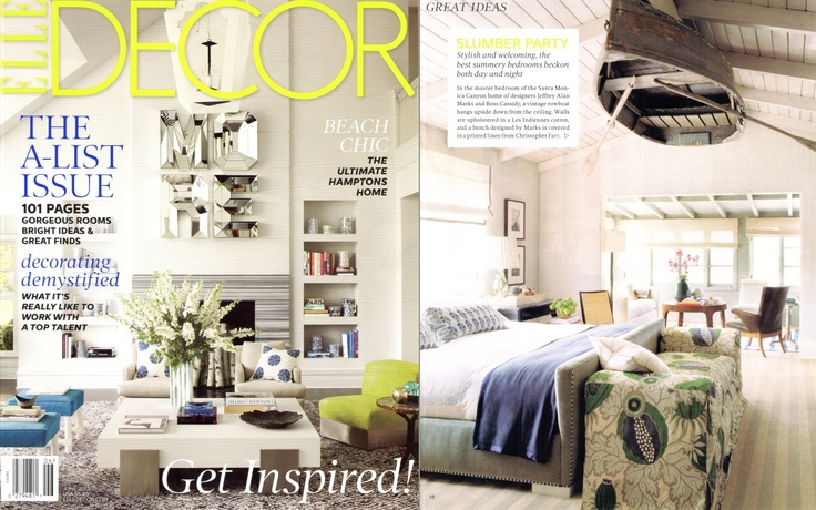 Elle Decor Jeffrey Alan Marks Master Bedroom Abercrombie & Fitch row boat Christopher Farr Carnivale fabric  #jeffreyalanmarks #JAM #Themeaningofhome