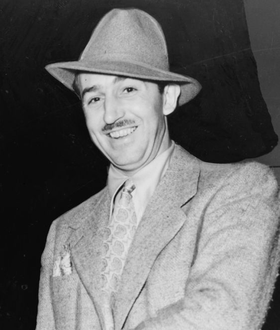 "Photo of Walt Elias Disney, 1938. Credit: Alan Fisher, New York World-Telegram and the Sun staff photographer; Library of Congress Prints and Photographs Division. Read more on the GenealogyBank blog: ""Walt Elias Disney's Fantasy Made Real: Disneyland Opens."" http://blog.genealogybank.com/walt-elias-disneys-fantasy-made-real-disneyland-opens.html"