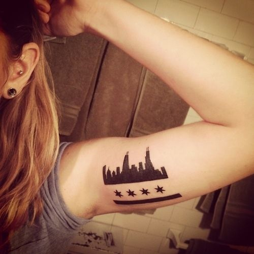 Chicago Flag / 43 Rad Tattoos To Pay Tribute To Your Favorite Place (via BuzzFeed)