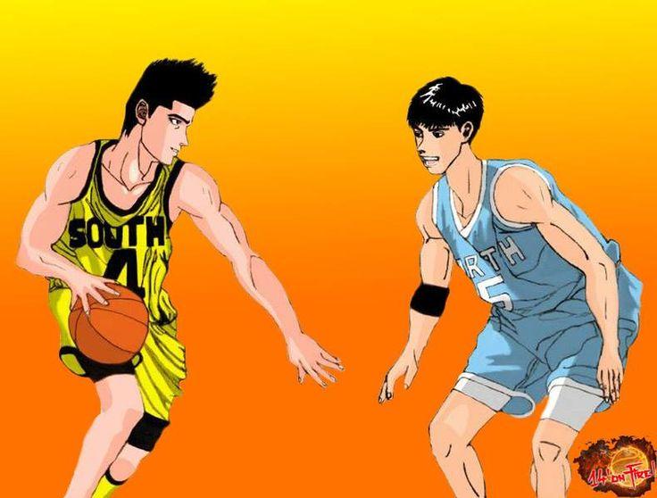 Akira Sendoh vs Eiji Sawakita en la secundaria baja.   #Sendoh; #Sawakita; #SlamDunk Artista: 14'onfire!