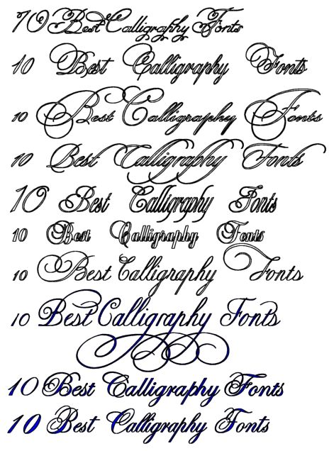 10 Best Calligraphy Fonts Calligraphy Tattoo Design Art