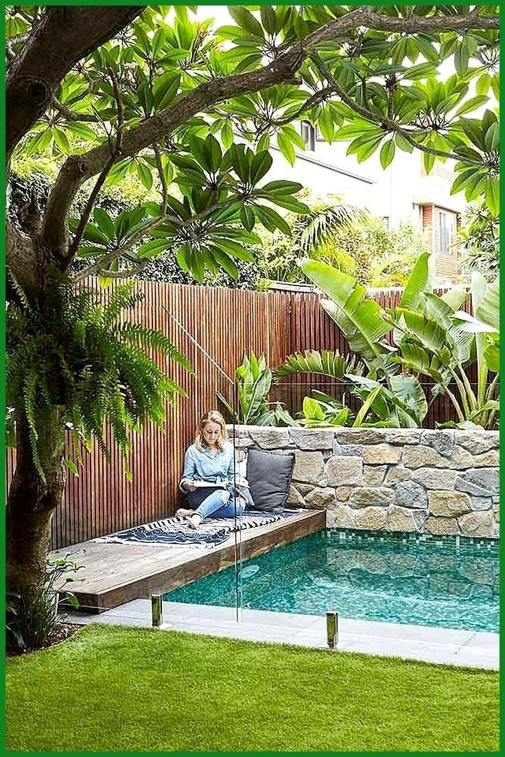 20 Minimalistisches kleines Pool Design mit wunderschönem Garten ...