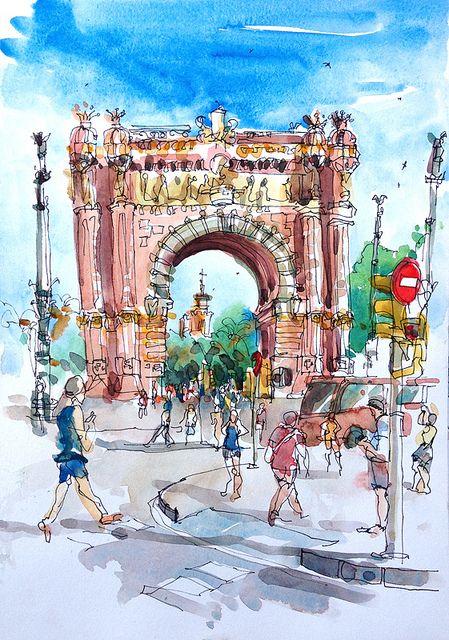 Arc de Triomf, Barcelona | Flickr: Intercambio de fotos