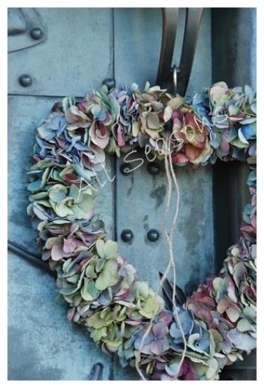mooi hart van hortensia in prachtige vergrijsde tinten Door katherina