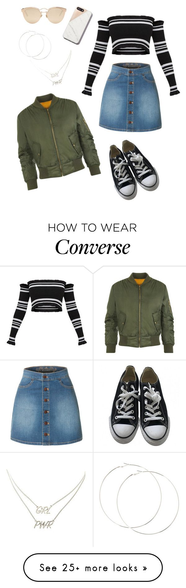 """Untitled #29"" by ashleigh-oxley on Polyvore featuring LE3NO, Converse, WearAll, Christian Dior, Charlotte Russe, casual, outfit and Trendy"