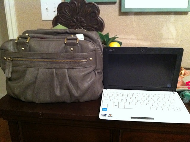 Love this Kelly Moore bag being used as a diaper bag