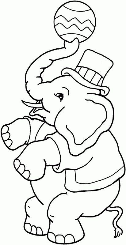 Free circus elephant coloring page
