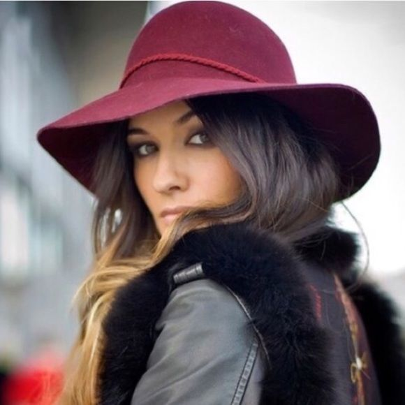 Maroon felt floppy hat burgundy tan brown black Avail in maroon, tan, or black. Floppy hats are the it accessory this season! Perfect gift idea! Accessories Hats