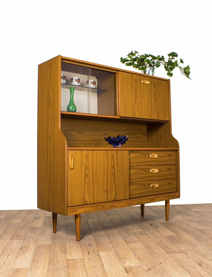 Schreiber Display Cabinet Sideboard Highboard Teak Retro