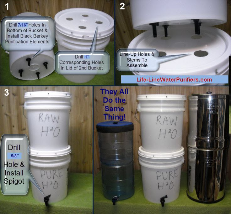I actually like THIS homemade version of a Berkey-style filtration system, better. Water filter & purifier