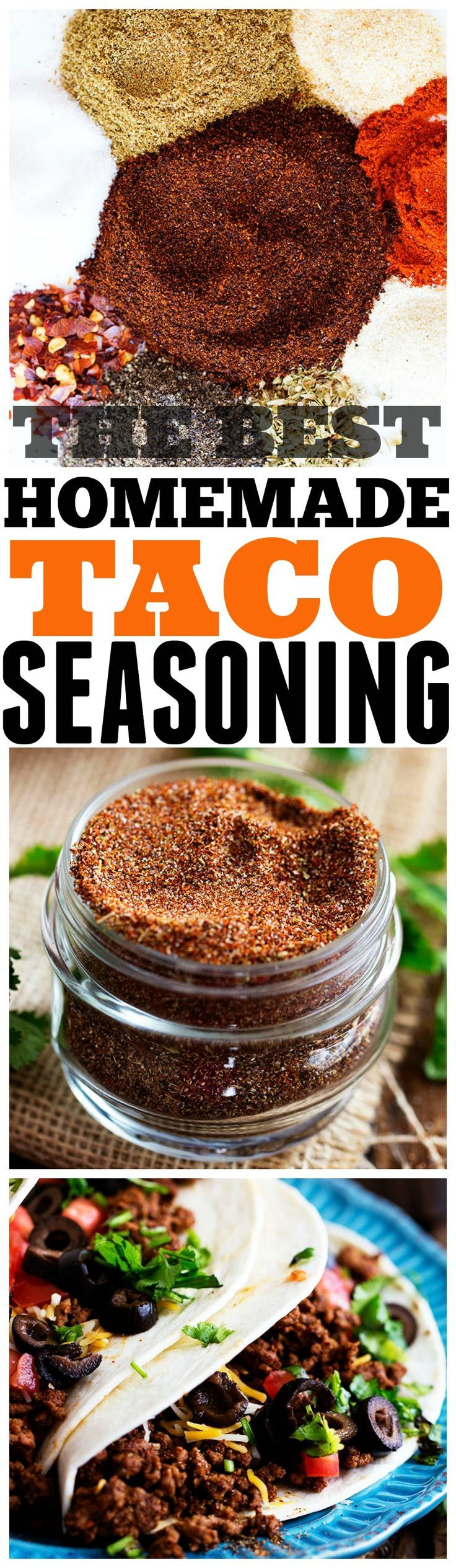 The Best Homemade Taco Seasoning - Perfect amount of spices and you will never buy it again!