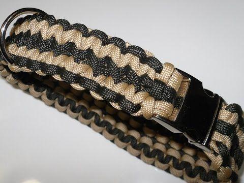 Paracord Halsband Anleitung - breites Hundehalsband in Deutsch auch als Blog - YouTube
