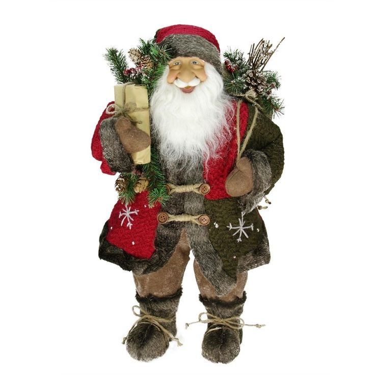 Santa Claus Christmas Decoration Figure 24'' Snowflake Jacket Xmas Rustic #Northlight => Easy & pleasant transaction => Quick delivery => 100% Feedback => http://bit.ly/24_hours_open #Christmas,#tree,#decor,#Santa,#xmas,#decoration,#inflatable,#holiday,#party,#sandaclaus,#yard,#garden,#patio,#accessories