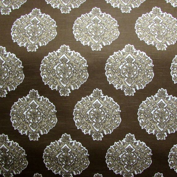 MADRAS CAFE brown designer by reneesfabrics on Etsy
