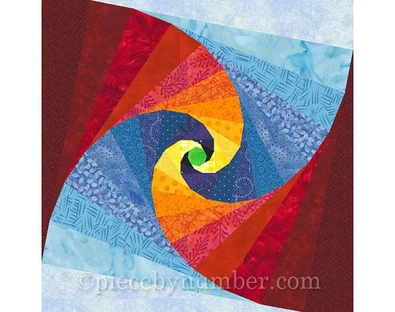 Mind's Eye quilt block paper pieced quilt by PieceByNumberQuilts