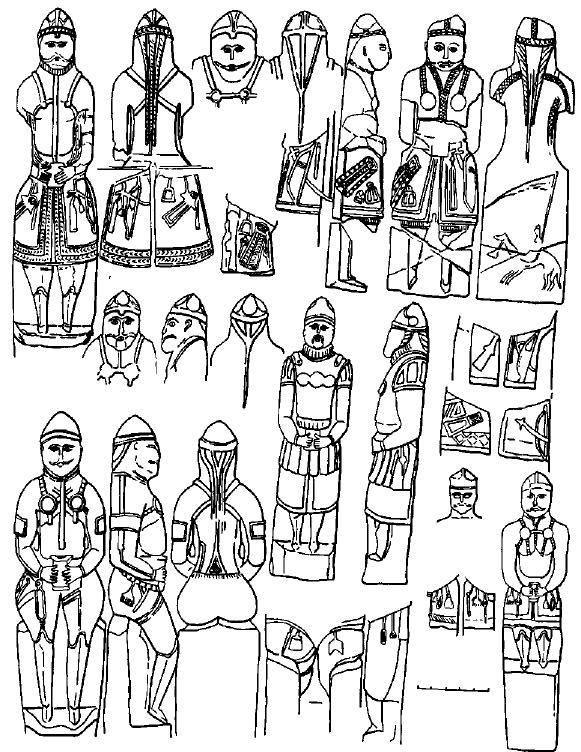 Рис. 52. Мужские статуи расцвета скульптуры - середина XII века