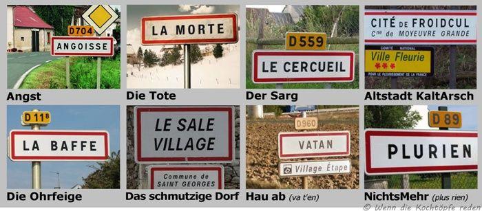 Lustige Ortsnamen in Frankreich mit Übersetzung #witzig #humor #lustig #ortsnamen #frankreich