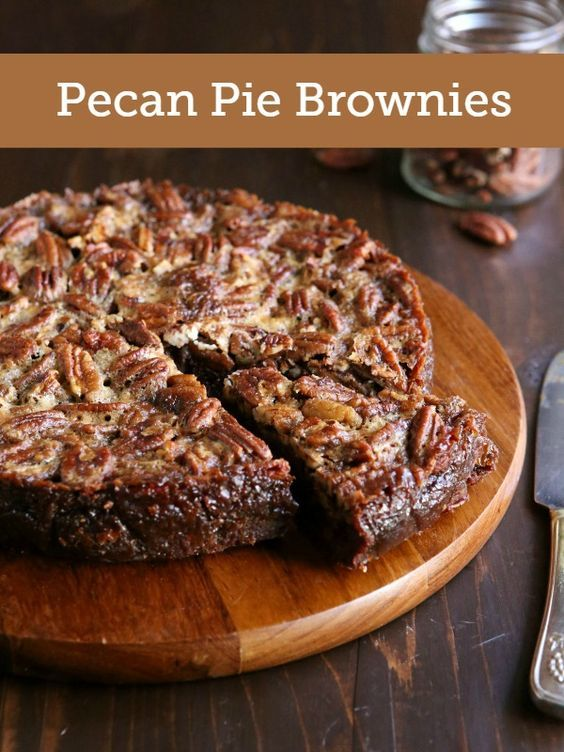 This hybrid dessert is the perfect blend of pecan pie and brownies!
