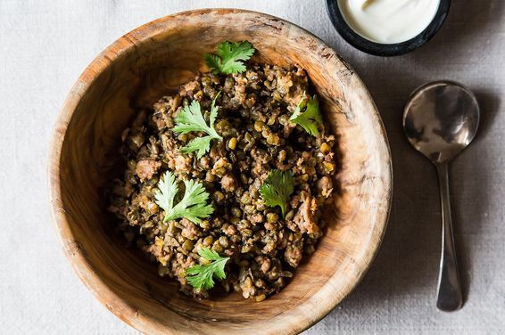 Crispy Lentils with Ground Lamb, a recipe on Food52